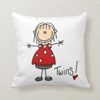 Expecting Twins T-shirts and Gifts Throw Pillow