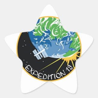 Expedición 19 pegatina en forma de estrella