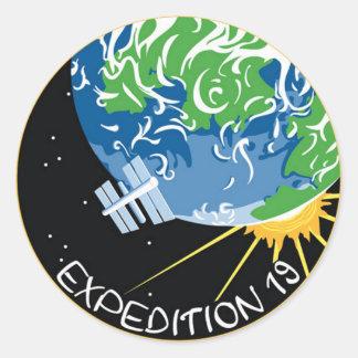 Expedición 19 pegatina redonda