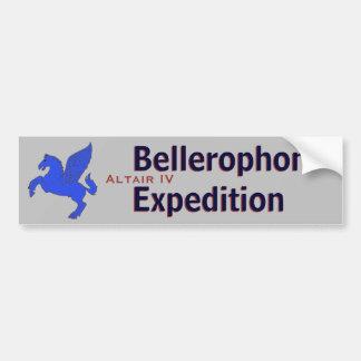 Expedición de Bellerophon Etiqueta De Parachoque