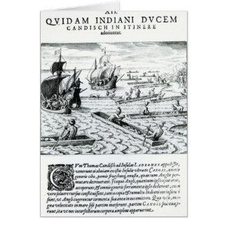 Expedición de Thomas Cavendish Tarjeta De Felicitación