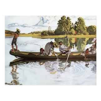 Expedición de Viking de los niños Postal