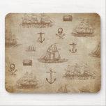 Expedición del vintage, una colección de naves tapetes de raton