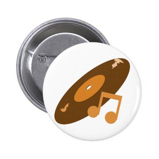 Expediente de la música y naranja retros de la not pin redondo 5 cm