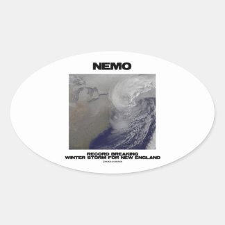 Expediente de Nemo que rompe la tormenta del Pegatina Ovalada