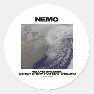 Expediente de Nemo que rompe la tormenta del Pegatina Redonda