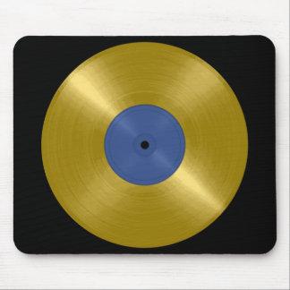 Expediente del oro con la etiqueta azul mousepads