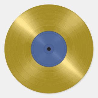 Expediente del oro con la etiqueta azul