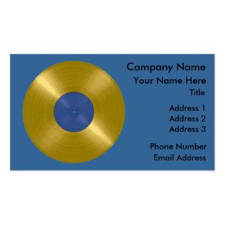 Expediente del oro con la etiqueta azul tarjetas de visita