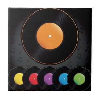 Expedientes de la placa giratoria en colores vivos azulejo cuadrado pequeño