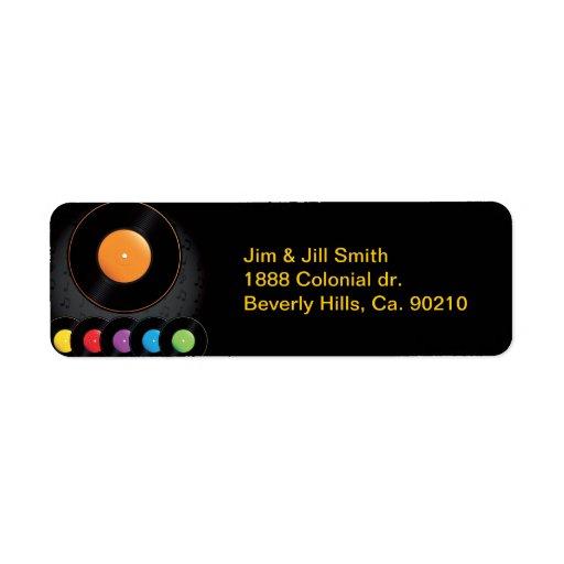 Expedientes de la placa giratoria en colores vivos etiqueta de remitente