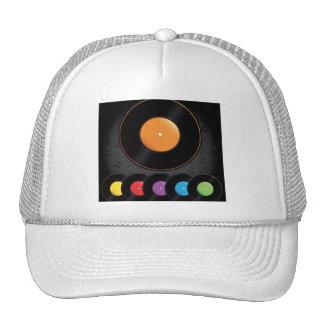 Expedientes de la placa giratoria en colores vivos gorras