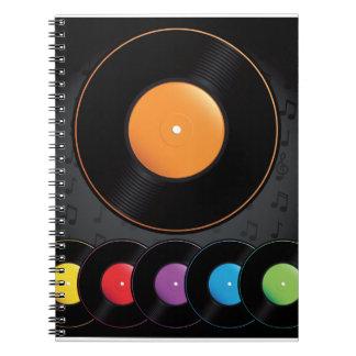 Expedientes de la placa giratoria en colores vivos spiral notebook