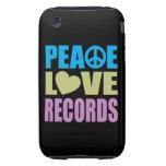 Expedientes del amor de la paz iPhone 3 tough cobertura