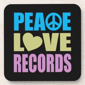 Expedientes del amor de la paz posavasos de bebida
