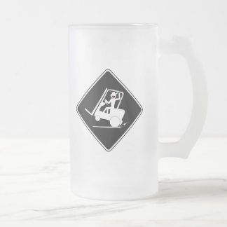 EXPEDITER DUDE FROSTED GLASS BEER MUG