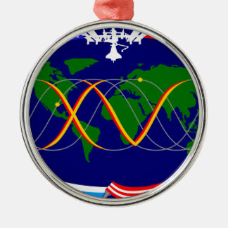 Expedition 15 Mission Patch Round Metal Christmas Ornament