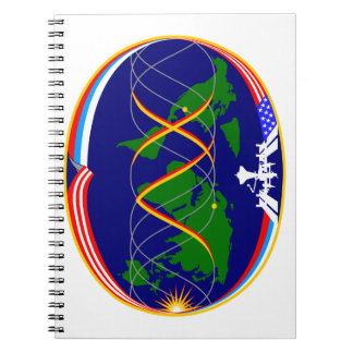Expedition 15 Mission Patch Spiral Notebooks