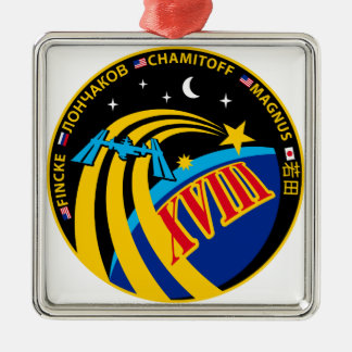 Expedition 18 square metal christmas ornament