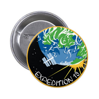 Expedition 19 pinback button