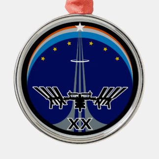 Expedition 20 round metal christmas ornament