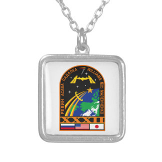 Expedition 32 silver plated necklace