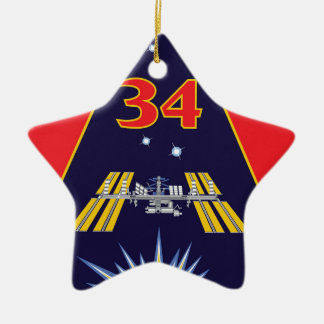 Expedition Crews:   Expedition 34 Flight Patch Ceramic Ornament