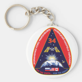 Expedition Crews:   Expedition 34 Flight Patch Keychain