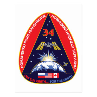 Expedition Crews:   Expedition 34 Flight Patch Postcard