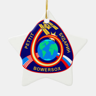 Expedition Crews:  Expedition 6 Double-Sided Star Ceramic Christmas Ornament