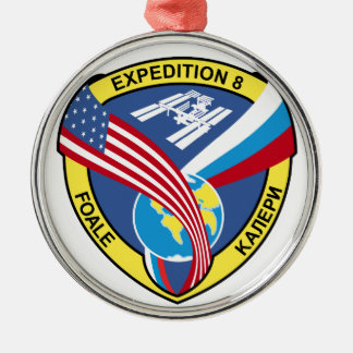 Expedition Crews:  Expedition 8 Round Metal Christmas Ornament