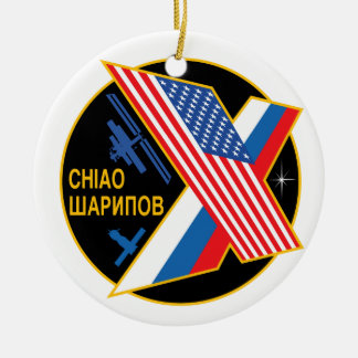 Expedition Crews to the ISS:  Expedition 10 Double-Sided Ceramic Round Christmas Ornament