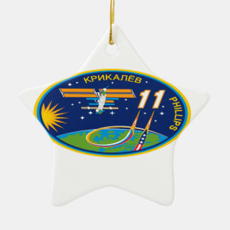 Expedition Crews to the ISS:  Expedition 11 Ceramic Ornament