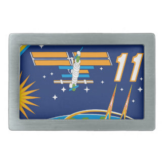 Expedition Crews to the ISS:  Expedition 11 Rectangular Belt Buckle