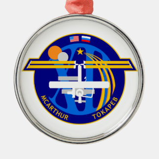 Expedition Crews to the ISS:  Expedition 12 Round Metal Christmas Ornament