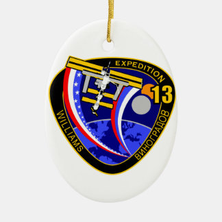 Expedition Crews to the ISS:  Expedition 13 Ceramic Ornament
