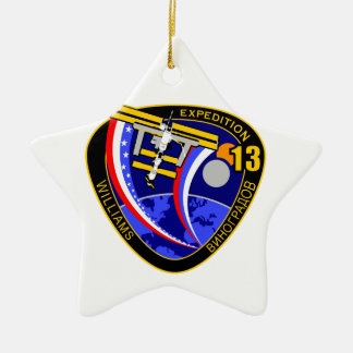 Expedition Crews to the ISS:  Expedition 13 Double-Sided Star Ceramic Christmas Ornament