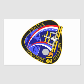 Expedition Crews to the ISS:  Expedition 13 Rectangle Sticker