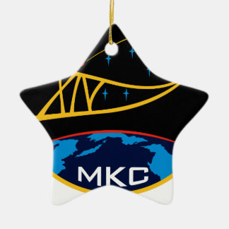 Expedition Crews to the ISS:  Expedition 14 Double-Sided Star Ceramic Christmas Ornament