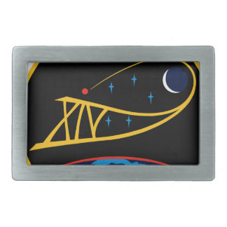 Expedition Crews to the ISS:  Expedition 14 Rectangular Belt Buckle