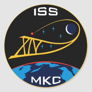 Expedition Crews to the ISS:  Expedition 14 Round Stickers