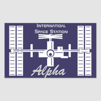 Expedition Crews to the ISS:  Expedition 1 Rectangular Stickers