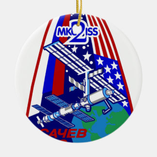 Expedition Crews to the ISS:  Expedition 2 Ceramic Ornament