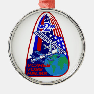 Expedition Crews to the ISS:  Expedition 2 Metal Ornament
