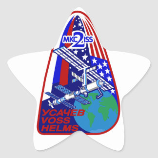 Expedition Crews to the ISS Expedition 2 Star Sticker