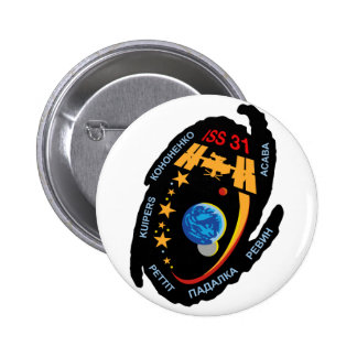 Expedition Crews to the ISS:  Expedition 31 Pinback Button