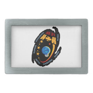 Expedition Crews to the ISS:  Expedition 31 Rectangular Belt Buckle