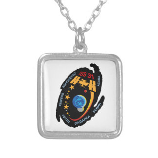 Expedition Crews to the ISS:  Expedition 31 Silver Plated Necklace