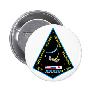 Expedition Crews to the ISS:  Expedition 33 Pinback Button