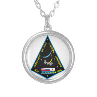 Expedition Crews to the ISS:  Expedition 33 Silver Plated Necklace